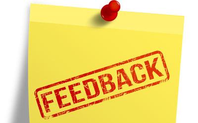 Feedback is a gift – so try and be grateful.